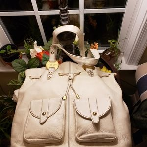 🛍👜Shariff Pebble Leather  Hand Bag